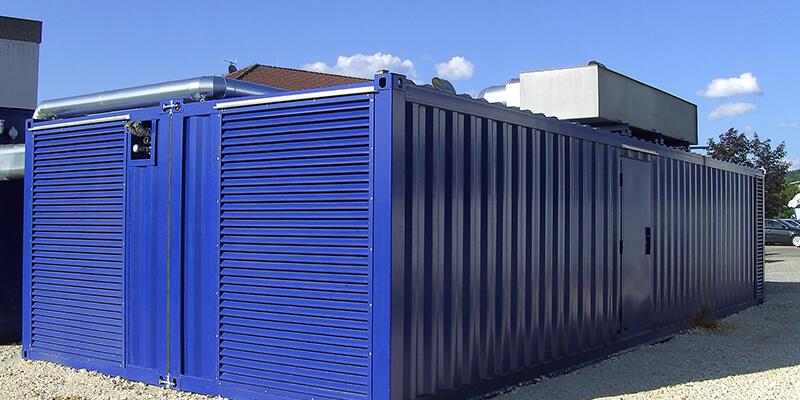 Gekoppelter Technikcontainer