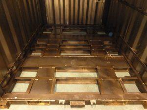 Unser Stahlbau: Staplertaschen von beiden Seiten